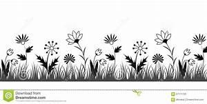 Black And White Flower Border Stock Vector - Image: 57171703