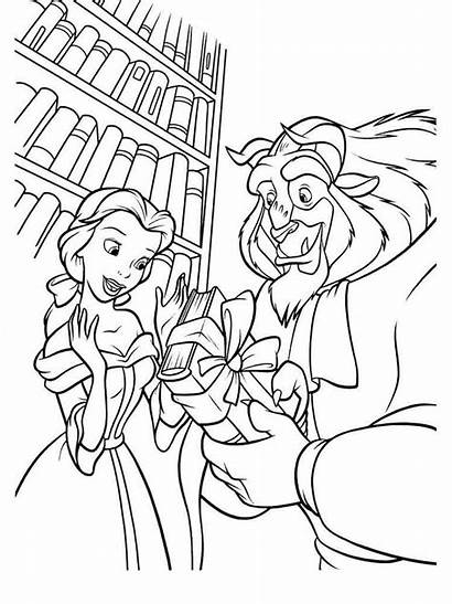 Coloring Belle Princess Pages Beast Beauty Printable