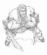 Hobbit Coloring Pages Thorin Oakenshield Sheets Adult Colouring Printable Dwarf Harpokrates Deviantart Lego Sword King Holding Prince Enjoy Axe Tolkien sketch template