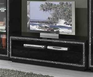 Meuble Tv Noir Laqué : meuble tv prestige 302 laque noir ~ Nature-et-papiers.com Idées de Décoration