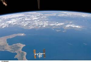International Space Station Over Earth (NASA, 08/19/07 ...