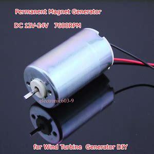dc motor permanent magnet generator wind turbine micro motor  diy ebay