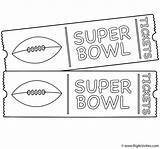 Coloring Bowl Super Tickets Game Pages Ticket Template Sheets Golden Activity Football Print Activities Great sketch template
