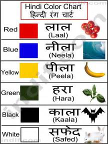 hindi color chart ह न द र ग च र ट