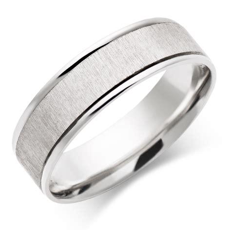 mens ct white gold wedding ring  beaverbrooks