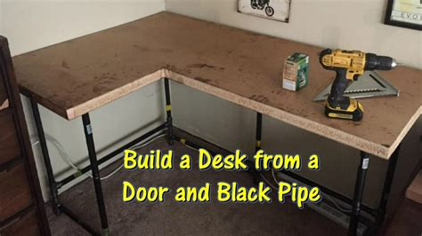 how to build a pipe l build a desk using an door and black pipe by