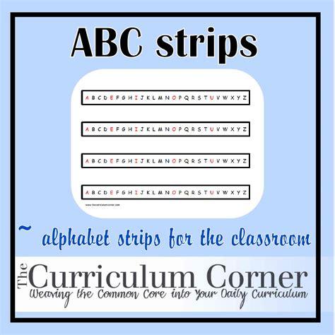 printable alphabet strip  printable