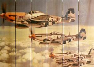 P-51 Mustangs Airplane Art Indoor Outdoor Aviation Art