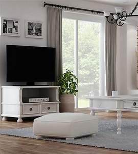 Couchtisch Weiß Klein : landhaus fernsehschrank klein mit 1 schublade massiv aus holz ~ Watch28wear.com Haus und Dekorationen