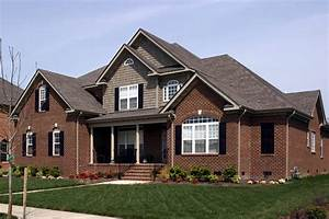Traditional, Home, Plan, With, Brick, Exterior, -, 30052rt