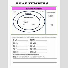 Real Numbers  Integers And Numbers