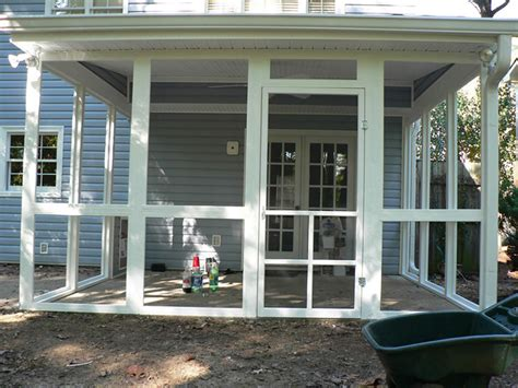 Screen Porch Material by Before After Screen Porch Photos Exovations