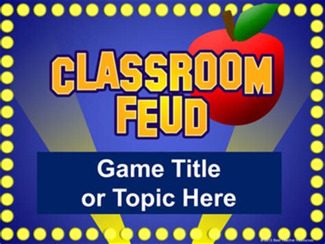 classroom feud powerpoint template plays  family