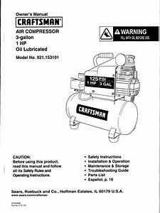 Craftsman Air Compressor Manual