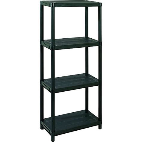 Wickes Bookcase by Addis 4 Tier Plastic Shelving Unit Wickes Co Uk