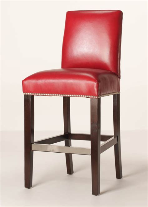 counter stools leather mitchell 26 quot leather counter stool customizable buy direct 2678