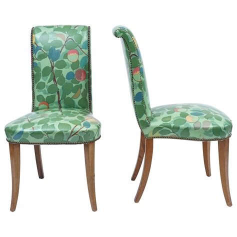 wonderful vinyl dining or chairs in chic floral print with