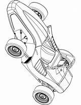 Kart Go Race Coloring Pages Printable Categories Vehicles sketch template