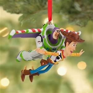 Woody & Buzz Lightyear flying sketchbook ornament (2013 ...