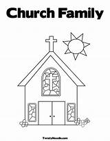 Church Coloring Pages Simple Drawing Elevator Sheets Alphabet Printable Colouring Truth Advent Fear Print Belt Getdrawings Getcolorings Comments Popular sketch template