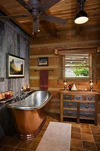 25 best ideas about log cabin bathrooms on pinterest With kitchen colors with white cabinets with log candle holder how to make