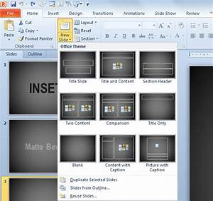 inserting a new slide in powerpoint 2010 powerpoint With how to insert template in powerpoint