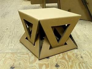 Meuble En Carton Design : diy une table basse trop styl e et de design original idee comment fabriquer un meuble en ~ Melissatoandfro.com Idées de Décoration