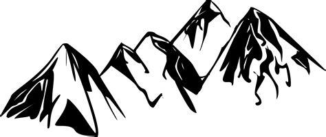 mountain clipart mountain peak clipart black and white the wallpaper screen