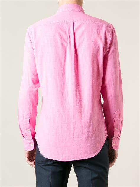 polo ralph lauren button  shirt  pink  men lyst