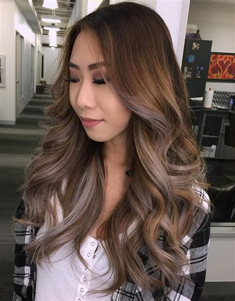 balayage hair color ideas  blonde brown caramel