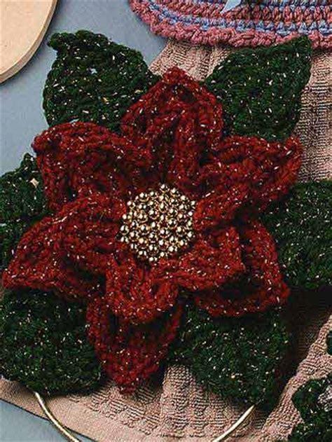 christmas poinsettias  crochet  patterns