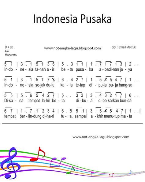 not indonesia pusaka pianika not angka lagu indonesia pusaka indonesia tanah air beta pusaka abadi nan