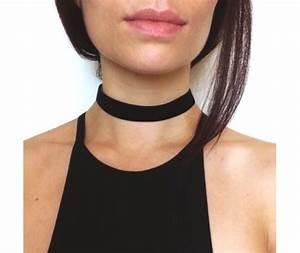 90's Velvet Basic Black Choker 2cm 111728