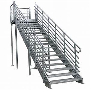 Escalier Métallique Industriel : garde corps m tallique pour escaliers rampes et palliers ~ Melissatoandfro.com Idées de Décoration