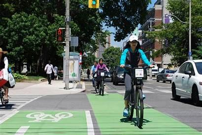 Bike Lanes Dedicated Sherbourne Toronto Network Bigger