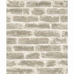 Papier Peint Brique Gris : papier peint briques urbaines gris clair ~ Dailycaller-alerts.com Idées de Décoration