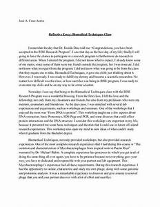 reflective essay conclusion examples
