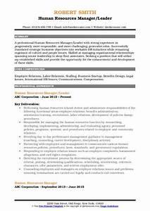 Build Resume Free Download Human Resources Manager Resume Samples Qwikresume