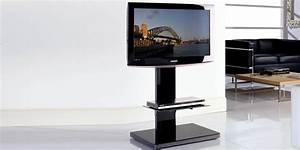 Meuble Tv Pied Metal : munari sy360 noir supports tv sur pied sur easylounge ~ Teatrodelosmanantiales.com Idées de Décoration