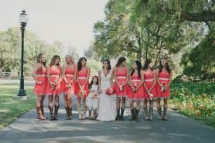bridesmaid dresses with boots coral bridesmaid dresses with cowboy boots ipunya