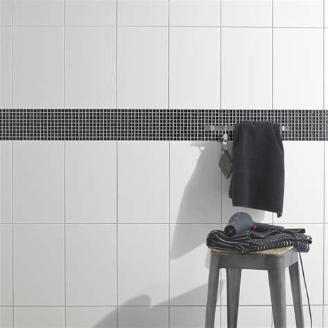 peinture sur faience cuisine faïence mur blanc basic l 25 x l 40 cm leroy merlin