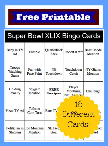 Printable Superbowl Squares 2015  Autos Post