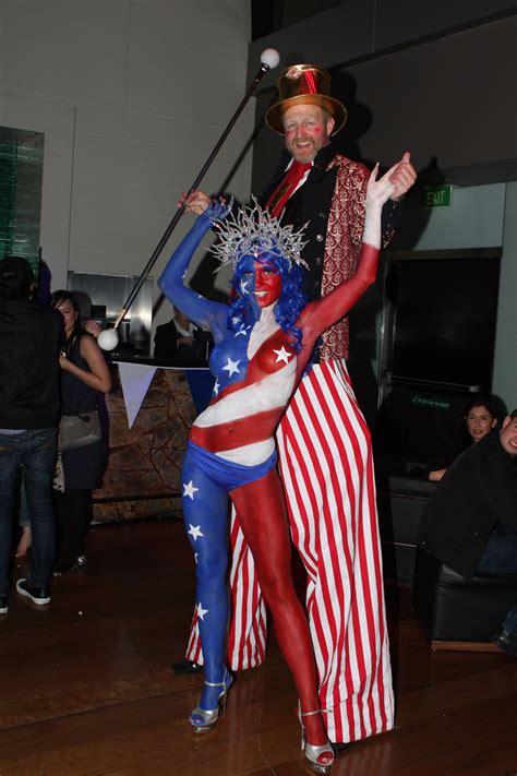 human statue bodyart zeta bar hilton hotel presents ms