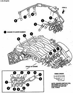 1999 Ford Contour Se  Cyl  Ltr  The Rh Timing Chain Guide