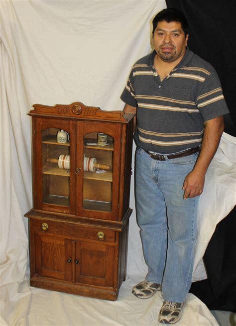 Bargain John's Antiques   Antique Oak Kitchen Cupboard