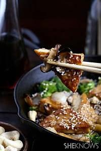 Sweet and sticky cashew tofu