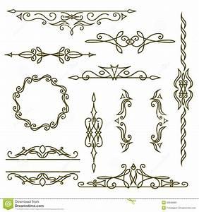 Monogram Design Elements, Graceful Template. Elegant Line ...