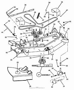 Snapper Hzs16481bve 48 U0026quot  16 Hp Ztr Yard Cruiser Series 1 Parts Diagram For Mower Deck Sub