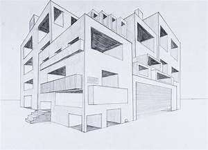 Perspektive Zeichnen Raum : architektur r umliche darstellung von architektur perspektive mit 2 fluchtpunkten ~ Orissabook.com Haus und Dekorationen
