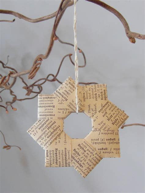 sterne basteln aus buchseiten die sch 246 nsten ideen f 252 r weihnachtsdeko aus papier